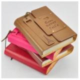 高品質のハードカバーのノートPU日記のノートの印刷