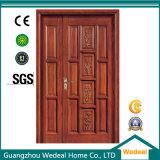 Вход красного дуба неравный двойной/нутряная деревянная дверь
