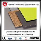 Laminado de papel del Formica de alta presión decorativo