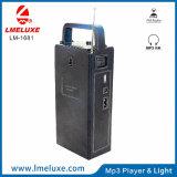 고성능 스피커와 FM 라디오 재충전용 LED 비상등