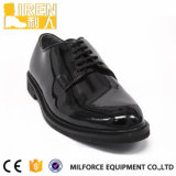 安く黒い本革のブートの軍隊の安全履物の軍のオフィスの靴