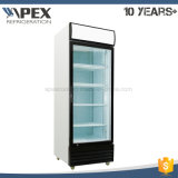 LG-450f Glass Single Door Vertical Display Beverage Cooler Upright Showcase com Ce, CB, Meps