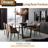 ホーム家具ファブリックか革食事の椅子