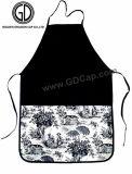 Style plein de coton noir vérifié Broderie Tablier de Cuisine