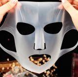 100% seda natural femenina Hoja Mascarilla facial de silicona máscaras Mascarilla facial de Aloe Vera