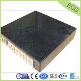 El panel al aire libre negro del panal de la piedra del granito