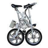 Bicicleta plegable de la batería de litio de 14 pulgadas/bici eléctrica de la ciudad/bicicleta plegable del acero de carbón de la aleación de aluminio