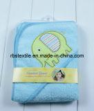 綿の赤ん坊の赤ん坊/Kidのためのフード付きの浴室タオル