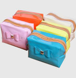 De nieuwe Producten maken de Kosmetische Zak van de Grondbeginselen van de Zak Pu van de Make-up van de Kleur Ccandy waterdicht