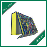 Caixa de presente de papel magnético de listra de cores