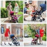Rahmen-Luxuxfalten-Baby-Spaziergänger des Aluminium-2017 mit europäischem Standard