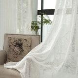 Tissu fin de rideau de type en voile de toile pure de pistes verticales (18F0105)