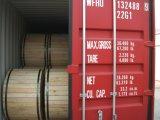 Fio de aço folheado de alumínio de cabo distribuidor de corrente no cilindro de madeira