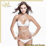 Großhandelsmischung färbt weißer Badeanzug-reizvollen Unterwäsche-Bikini
