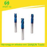 4 mangos de maniobra de la esquina de la dureza de los molinos de extremo del radio de la esquina del cortador de la flauta altos
