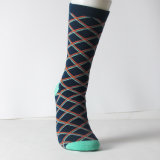 China-Fabrik-glückliche Mann-kundenspezifische Baumwollkleid-Socken
