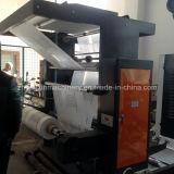 (ZXH21200-C) Dos de color Letterpress Tejida máquina de impresión