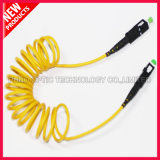 Bend Safe Curly Single Mode Fiber Patch Cord SC Conector 3.0mm Diâmetro do cabo