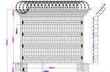 Загородка ячеистой сети высокого качества v сваренная лучем для обеспеченности
