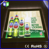 Muestra de la cerveza LED para hacer publicidad de la tarjeta del menú de la visualización del rectángulo ligero del marco