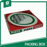 Большое поле продовольствия из гофрированного картона для пиццы среза