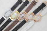 Lujo caliente del reloj de la alineada de la manera de 2017 de la venta del reloj mujeres del cuero