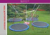 Im Freien aufgeblähte Schlag-runde Federelement-Trampoline für Kinder und Erwachsene