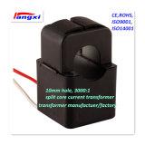 3000: 1 10mm Trou 0.5class Transducteur de courant à noyau divisé / Transformateur de courant pour mesure de puissance