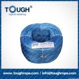 파란 색깔 10mmx28muhwmpe 밧줄 윈치 합성 물질 밧줄