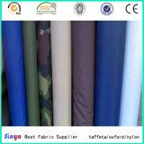 Cuir léger PU revêtu 100% Polyester Tissu en taffette 190t pour veste vêtement utilisé
