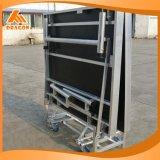 高さ610-810mmのアルミニウム折る段階の携帯用アルミニウム段階