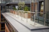 Railing балкона конструирует напольный стеклянный Railing для поручня лестницы
