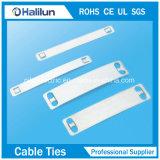 Placa superior 9.5mm*89mm/19mm*89mm do marcador do cabo do aço inoxidável de resistência de corrosão