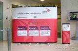 Ecran personnalisé imprimé personnalisé et 2 lumières + écran podium pour exposition