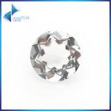 円形の自然な水晶宝石用原石の白い石水晶