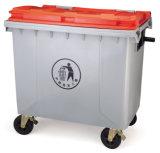 1100L écologique des déchets de plastique Bin avec deux roues