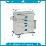 Krankenpflege-Laufkatze-Karre des medizinischen Krankenhaus-AG-At018 Emergency mit fünf Fächern