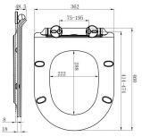Siège des toilettes proche facile oblong avec la forme mince de D