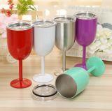 熱い販売法のステンレス鋼のゴブレットの赤ワインのマグ