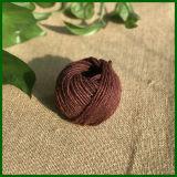 3ply teñido colorido yute Cordel para jardinería (marrón)