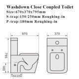 Watermark Dual Flush Bathroom Two Piece Ceramic Toilet