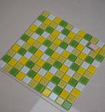 緑および黄色の組合せの台所モザイク・タイルのためのガラスモザイク・タイル