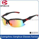 Gafas de sol polarizadas negras del deporte del ciclo Promoción de la insignia de encargo anti UV que conduce el Eyewear del montar a caballo