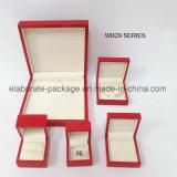 Caixa de jóia de madeira envernizada lustrosa gama alta do MDF