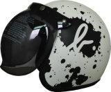 El casco Half- más nuevo de la motocicleta de la cara 2017 con el shell de cuero, precio barato de la alta calidad, PUNTEA aprobado