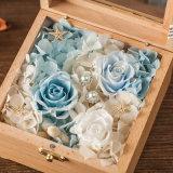 Flor preservada de madera para el recuerdo