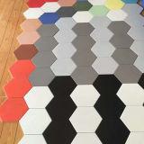 Ladrillo de cerámica barato rústico de las esquinas del azulejo de suelo del material de construcción seises