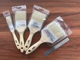 Hölzerner Griff-Lack-Pinsel mit weißem Borste-Material