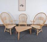 Stern-Hotel-Gaststätte-moderner hölzerner Pfau-Stuhl für Kaffee-Möbel