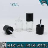 円形10mlは黒いふたが付いているゲルのマニキュアのガラスビンを空ける